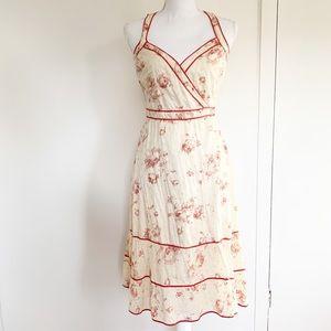 Anthropologie Fei floral eyelet midi wrap dress 6